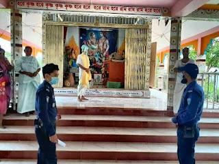 মাধবপুরে মন্দিরের তালা ভেঙ্গে দুঃসাহসিক চুরি,