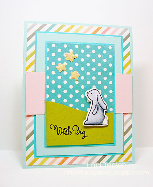 Wish Big card-designed by Lori Tecler/Inking Aloud-stamps and dies from Avery Elle