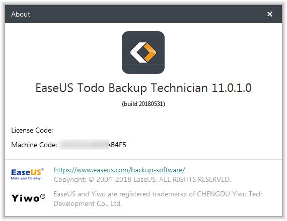 EaseUS Todo Backup 11.5 Crack Serial Key License Code Activation Registration