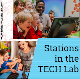"We talk about learning stations all the time in the Technology Teacher Tribe Facebook Group. The question usually sounds something like ""I've been thinking about trying stations in technology class, but where do I start?"""