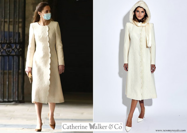 Kate Middleton wore a new wool coat from Catherine Walker