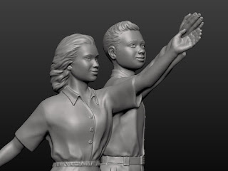 Sculpture of a Boy and a Girl