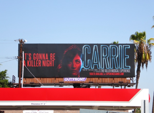 Carrie Musical Halloween 2015 billboard