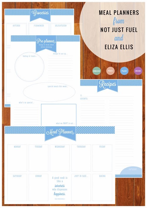 Meal Planners - Not Just Fuel & Eliza Ellis