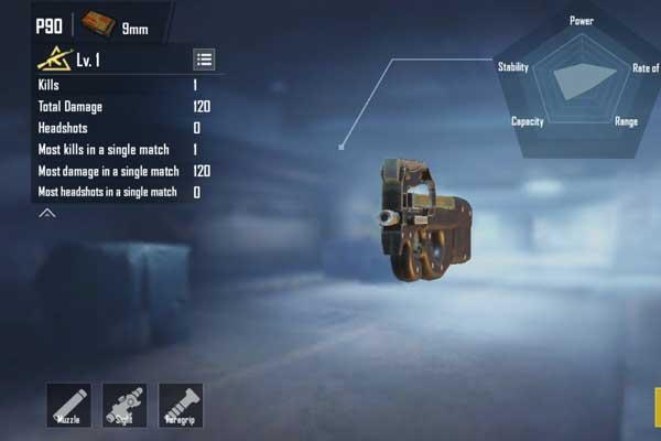 PUBG Mobile New P90 Gun: P90 Weapons SMG