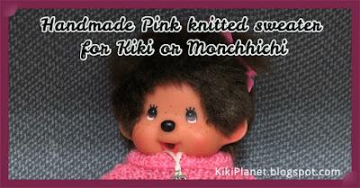kiki monchhichi fait main handmade tricot knitting clothes vêtement poupée