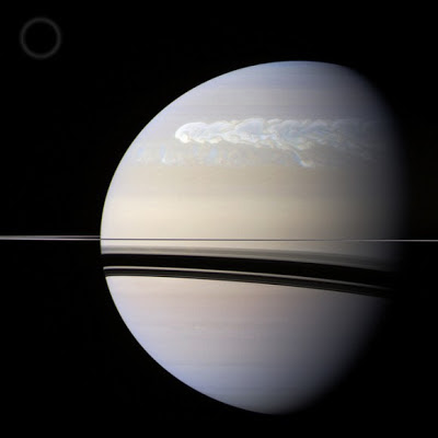 A huge storm on Saturn