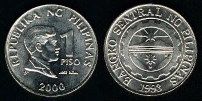 Philippines 1 Piso (1995-1997)