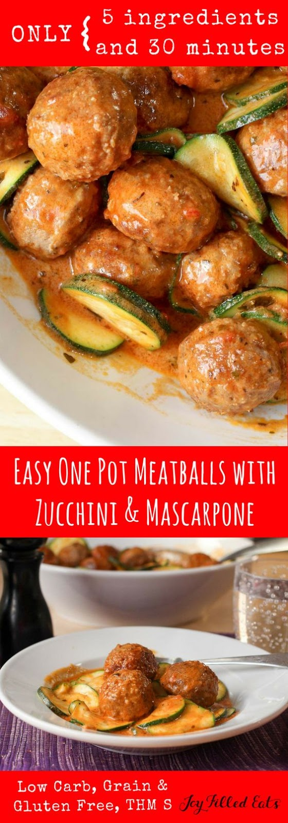 Easy Meatballs with Zucchini & Mascarpone