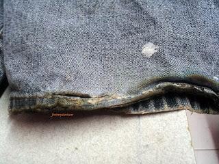 Pantalon Post Apocalyptique, brulures