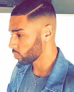 Pompadour haircut for Black Men
