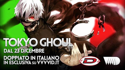 TOKYO GHOUL GRATIS IN STREAMING DOPPIATO IN ITALIANO DA DYNIT E VVVVID - UPDATE 17/12/14 | Comic-Soon