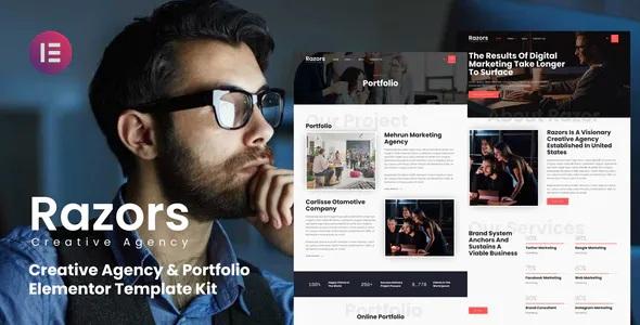 Best Creative Agency & Portfolio Elementor Template Kit