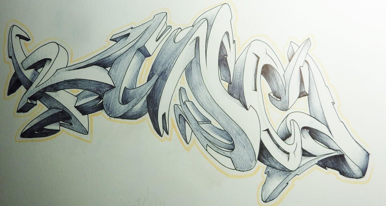Rosas Wallpapers 3d Graffitis En 3d Bocetos En Papel Imagui