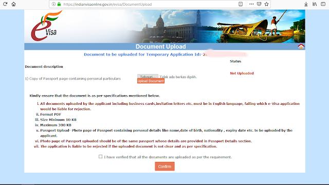 Upload Dokumen Paspor PDF