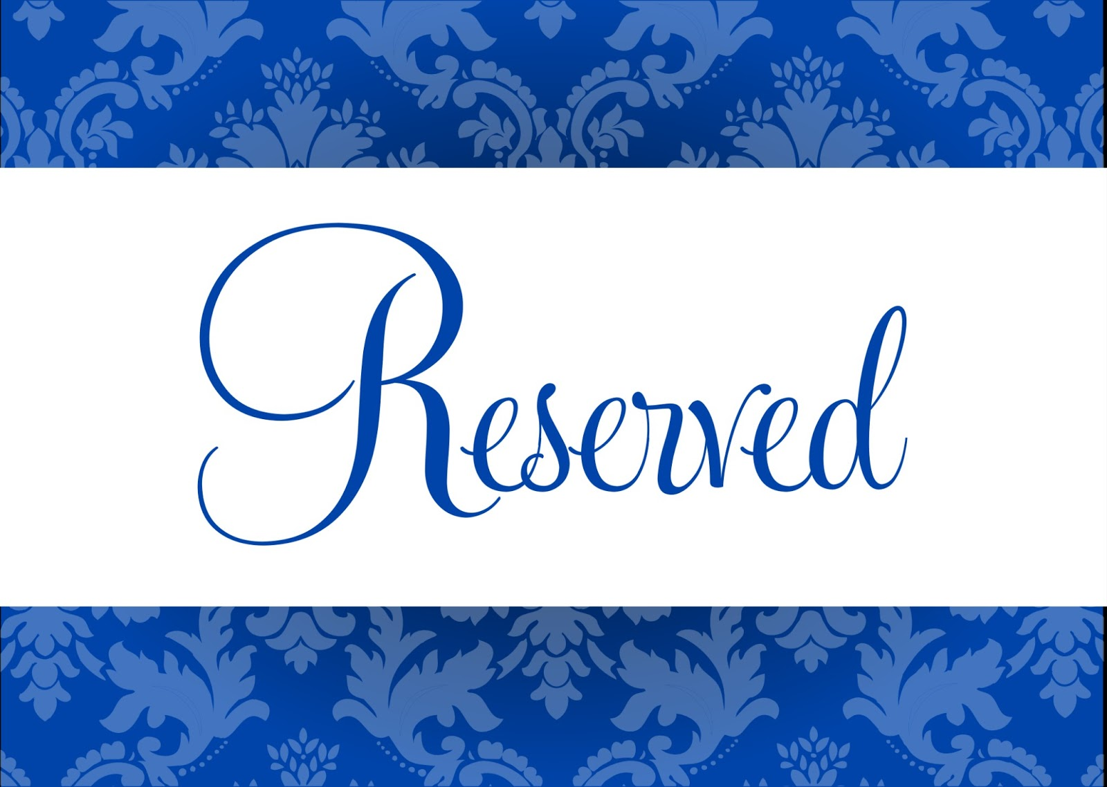 reserved signs for chairs template ergonomic mesh chair uk cards tables templates choice image