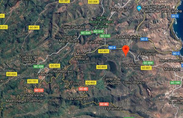El operario de Carreteras atropellado por un ciclista en Gran Canaria, trasladado a un hospital
