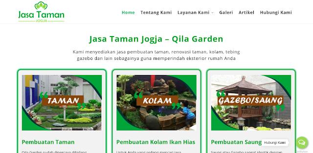 Tampak website Qila Garden, foto: screenshots