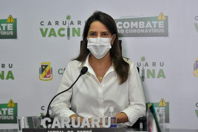 Raquel Lyra, defende vacinas para Caruaru e cidades do Agreste de Pernambuco