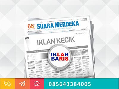 iklan kecik koran Suara Merdeka