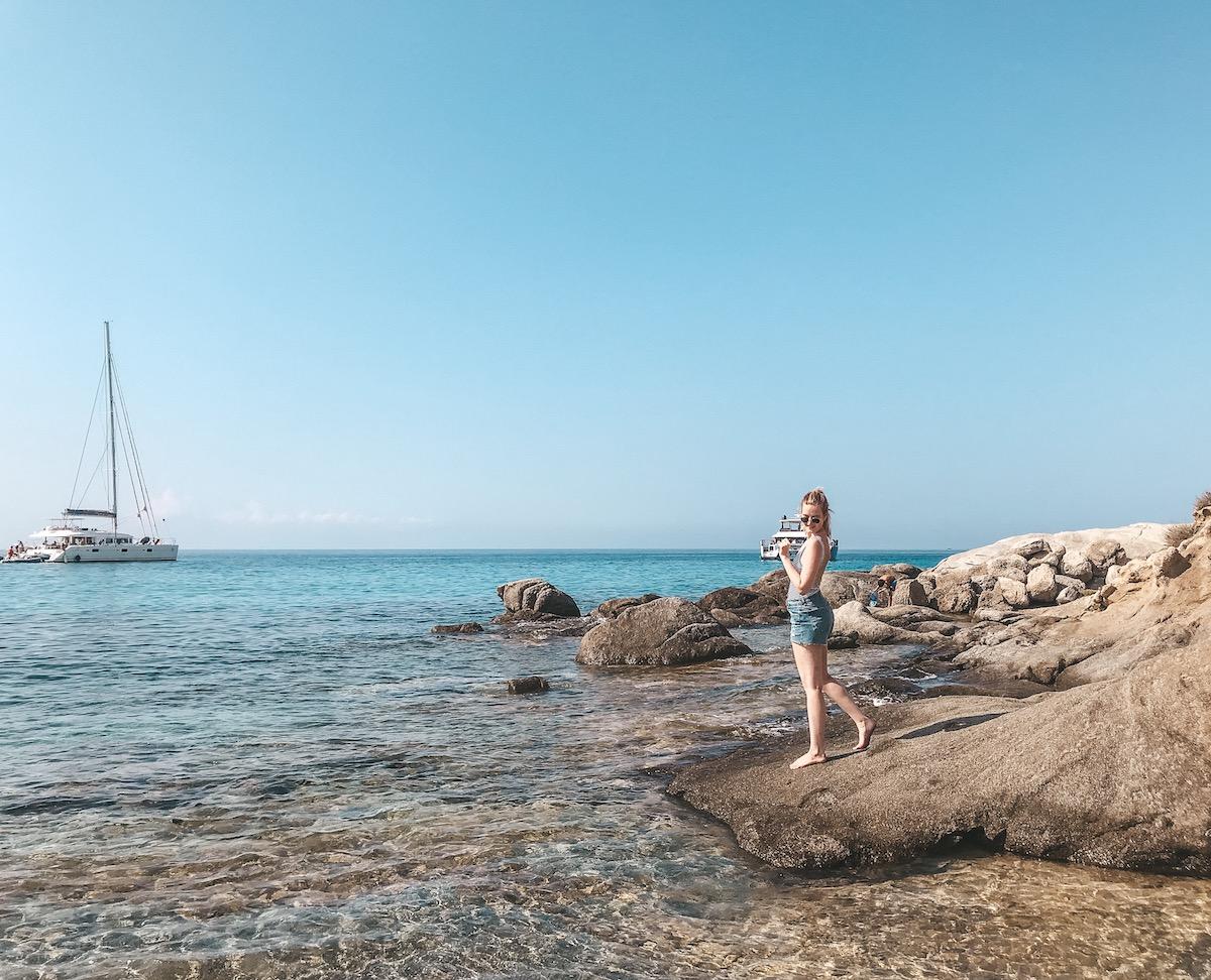 Naxos Travel Diary Reise Tipps Schönste Orte Schönste Strände der Insel Agio Prokopios Prokopi Beach Strand