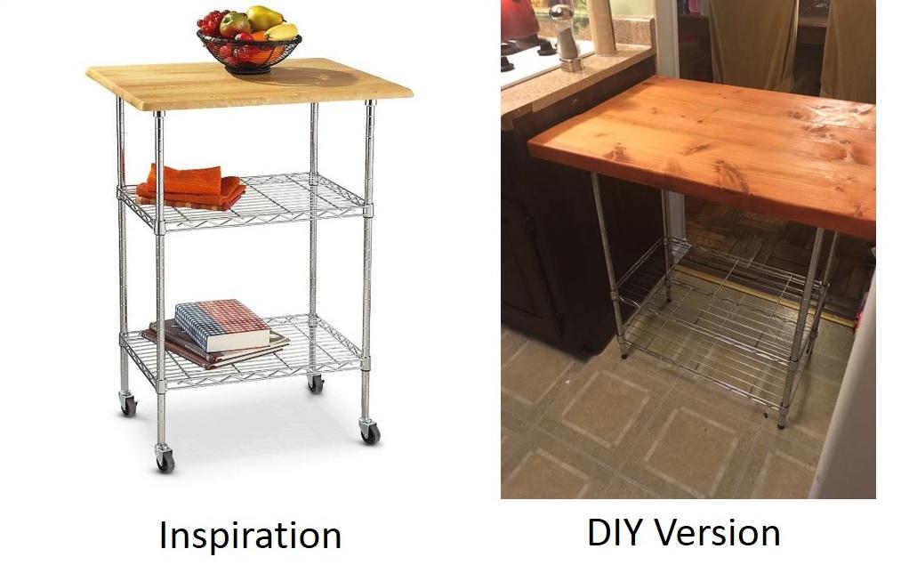 Diy Butcher Block Kitchen Cart : DIY - Butcher Block Kitchen Cart - One Brown Mom