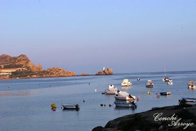 Imagen de  la bahia de Levante con las barcas de pesca que siempre han representado este pueblo costero.
