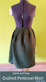 how to sew a quilted skirt