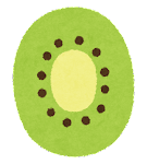 フルーツのマーク(キウイの断面)