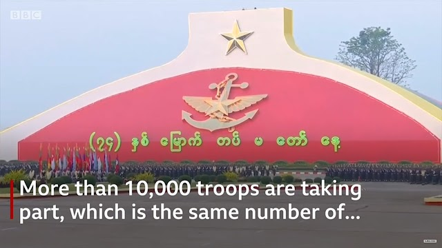 Rare look at Myanmar military celebrations | BBC News | Breaking Video News Xit4U