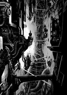 Ion Mud: un univers de SF cyber punk fait de métal et de tuyaux