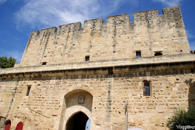 Una delle porte di accesso alla cittadella di Aigues Mortes