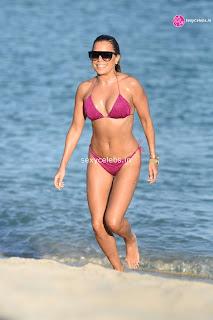 Sylvie Meis  body huge    in tiny bikini WOW Beach Side  Pics Celebs.in Exclusive 018