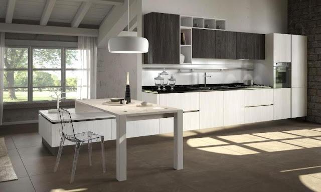 30 ideas de mesas y barras para comer en la cocina - Barra attrezzata cucina ...
