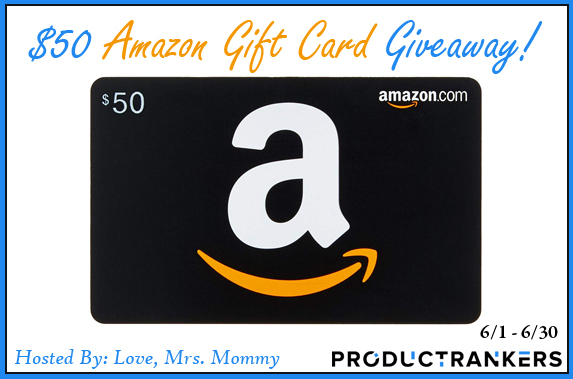 Enter to #win a $50 Amazon gift card. #Giveaway ends 6/30. Open WW.