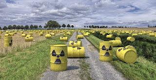 barris com material radiativo
