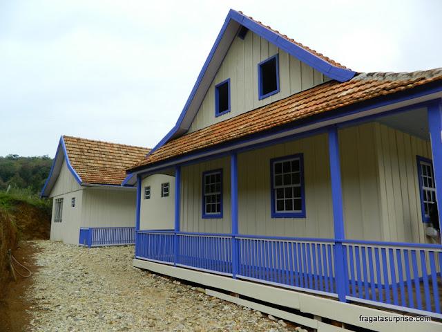 Casa de colonos poloneses no Parque Histórico de Iguassu, União da Vitória, Paraná