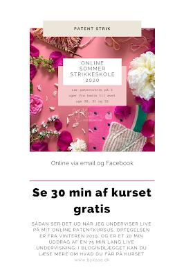 Læs om kurset på www.bykaae.dk eller køb her https://charlottekaae.bigcartel.com/product/online-sommer-strikkeskole-patentstrik