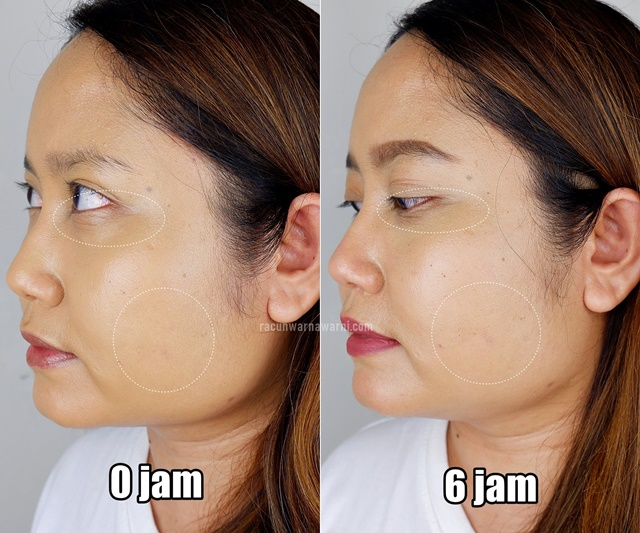 Before After Pemakaian 6 Jam Somethinc Cushion