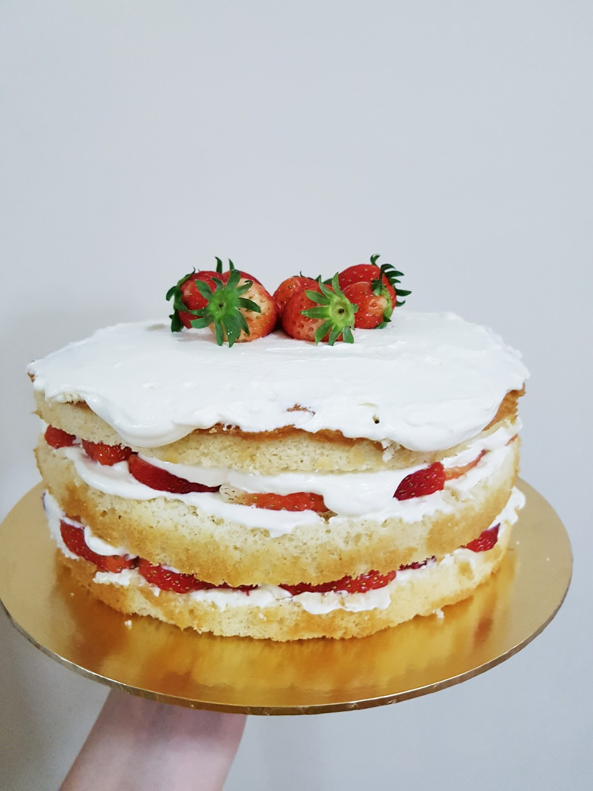 Korean Strawberry Shortcake with Mascarpone Cream Cheese