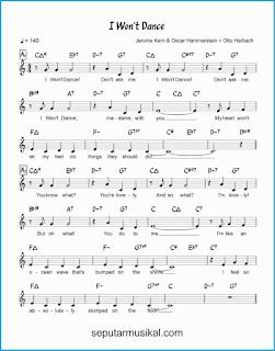 chord i won't dance 1 lagu jazz standar