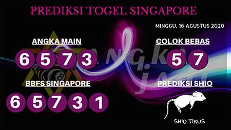 Prediksi Angka Jitu Togel Singapura Minggu 16 Agustus 2020