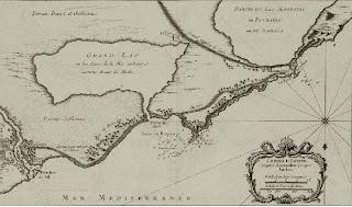 خريطة لمدينة الإسكندرية بالرسم البللينى عام 1764