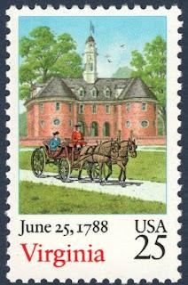 US 1988 25c Virginia Bicentenary Statehood.