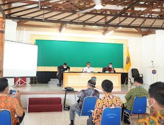 Rapat Koordinasi Pencegahan dan Penanggulangan COVID-19 di Ruang Lubung Kantor Wali Kota Tarakan - Tarakan Info