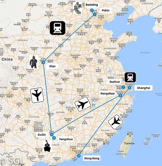 Recorrido de 17 días por China