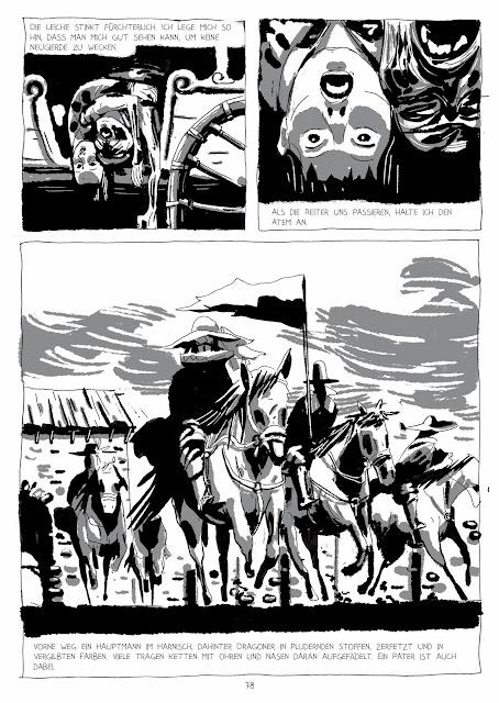 ritter, pferde, düster, comic, jpeg