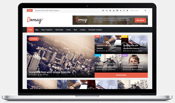Domag-blogger-template