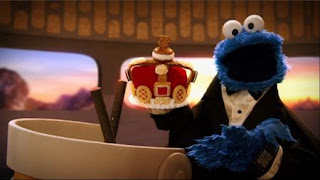 Cookie's Crumby Pictures The Spy Who Loved Cookies, Cookie Monster plays an agent Double-Stuffed 7, Sesame Street Episode 4401 Telly gets Jealous season 44