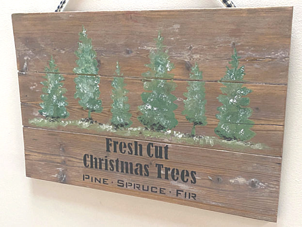 You cut christmas tree sign
